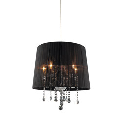 Crystal Big Black Pendant Light | Suspended lights | Valaisin Grönlund
