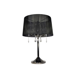 Crystal Black Blackchrome Table Lamp | Table lights | Valaisin Grönlund