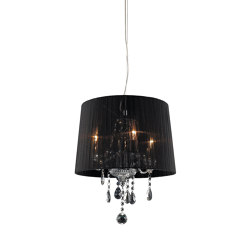 Crystal Small Black Pendant Light | Suspended lights | Valaisin Grönlund