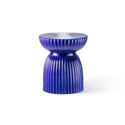 DU ROY | Ceramic Stool | Indigo Blue | Stools | Maison Dada