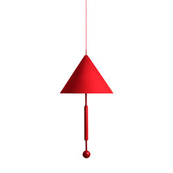 OBJECT OF DISCUSSION   Pendant Lamp   Red   Suspended lights   Maison Dada