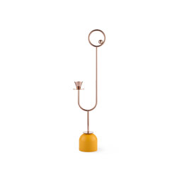 PARIS MEMPHIS | Candle Holder N3 | Yellow | Candelabros | Maison Dada