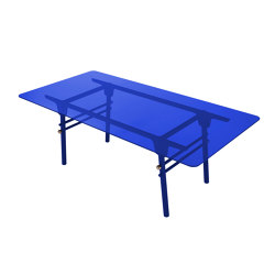 PARIS MING | Rectangular Dining Table | Blue Indigo | Dining tables | Maison Dada