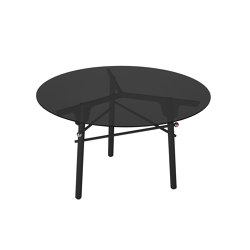 PARIS MING | Round Dining Table | Black | Dining tables | Maison Dada