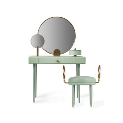 ROSE SELAVY | Vanity Desk and Stool | Green Celadon | Tocadores | Maison Dada