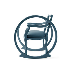TICKING CLOCK | Adult Rocking Chair | Petrol Blue | Armchairs | Maison Dada