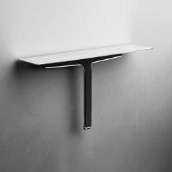 Reframe Collection | Soap shelf and shower wiper - polished steel | Bath shelves | Unidrain