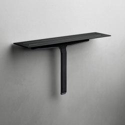 Reframe Collection | Soap shelf and shower wiper - black | Bath shelves | Unidrain