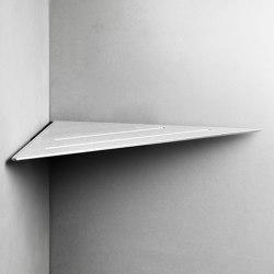 Reframe Collection   Corner shelf - brushed steel   Bath shelves   Unidrain