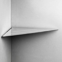 Reframe Collection   Corner shelf - polished steel   Bath shelves   Unidrain