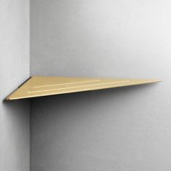 Reframe Collection   Corner shelf - brass   Bath shelves   Unidrain
