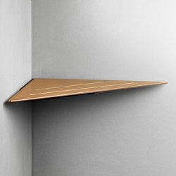 Reframe Collection | Corner shelf - copper | Bath shelves | Unidrain