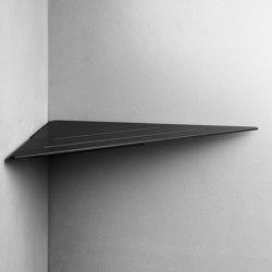 Reframe Collection   Corner shelf - black   Bath shelves   Unidrain