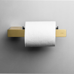 Reframe Collection | Toilet paper holder - brass | Paper roll holders | Unidrain