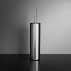 Reframe Collection | Toilet brush, floor - brushed steel | Toilet brush holders | Unidrain