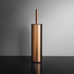 Reframe Collection | Toilet brush, floor - copper | Toilet brush holders | Unidrain