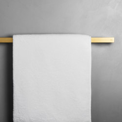 Reframe Collection | Towel bar - brass | Towel rails | Unidrain