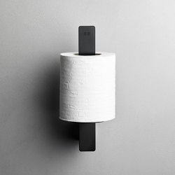Reframe Collection | Toilet paper holder spare - black | Paper roll holders | Unidrain
