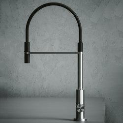 Kitchen Inox | Stainless steel Kitchen sink mixer with swivel spout. | Griferías de cocina | Quadrodesign