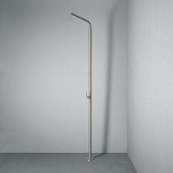 Levo | Colonna doccia con getto a pioggia orientabile e miscelatore idroprogressivo in acciaio inossidabile | Doccie outdoor | Quadrodesign