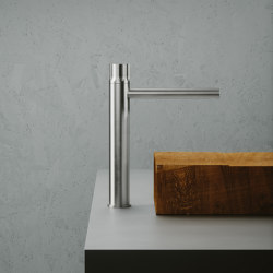 Modo | Stainless steel Deck mounted hydroprogressive mixer | Wash basin taps | Quadro