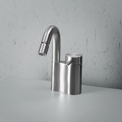 Ottavo | Stainless steel Deck mounted mixer with adjustable spout | Wash basin taps | Quadro