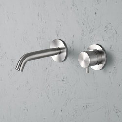 Ottavo | Stainless steel Wall mounted single lever mixer with spout | Wash basin taps | Quadro