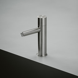 Stereo | Stainless steel Deck mounted hydroprogressive mixer | Wash basin taps | Quadrodesign