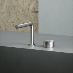 Stereo | Stainless steel Two-hole hydroprogressive mixer with spout | Wash basin taps | Quadro