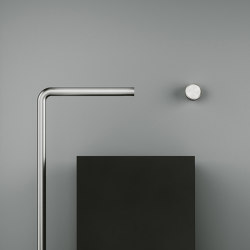 Stereo | Stainless steel Wall mounted hydroprogressive mixer with spout L. 190 mm | Bathroom taps accessories | Quadrodesign