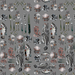 Fishes Cuttlery | artist wallpaper | Wall coverings / wallpapers | Ginny Litscher