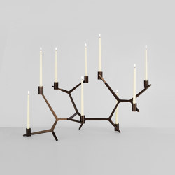 Agnes Candelabra Table - 9 Candles (Bronze) | Candelabros | Roll & Hill
