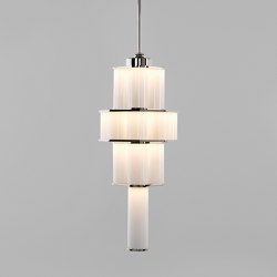Bauer Chandelier 02 White / Polished Nickel | Lámparas de suspensión | Roll & Hill