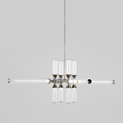 Castle 12-01 (Polished Nickel/Clear)   Suspended lights   Roll & Hill