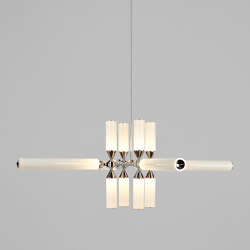Castle 12-01 (Polished Nickel/Cream)   Suspended lights   Roll & Hill