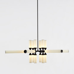 Castle 18-01 (Black/Cream) | Lampade sospensione | Roll & Hill