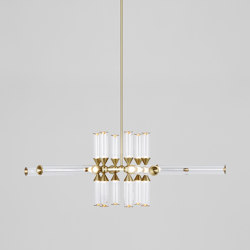Castle 18-01 (Brass/Clear) | Suspended lights | Roll & Hill