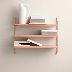 String Pocket blush | Shelving | string furniture