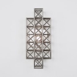 Gridlock Sconce - 193 (Nickel) | Lámparas de pared | Roll & Hill