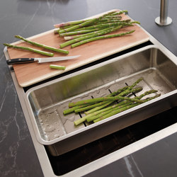 Worktop with built-in sink unit FINE | Kitchen organization | Santos
