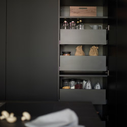 Tall units with interior drawers FINE | Kitchen cabinets | Santos