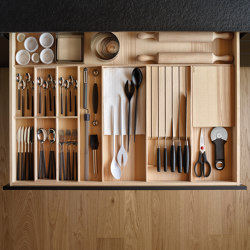 Wood top drawer FINE | Kitchen organization | Santos