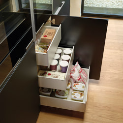 Tall units with interior drawers FINE | Kitchen organization | Santos