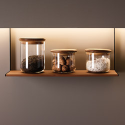 Accessories for LED lighting profile | Kitchen organization | Santos