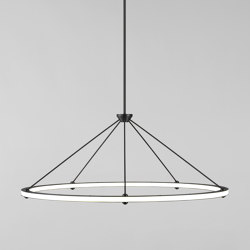 Halo Circle Pendant (Black) | Lámparas de suspensión | Roll & Hill