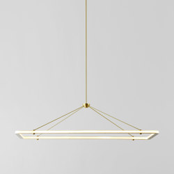 Halo Rectangle Pendant (Brass) | Suspended lights | Roll & Hill