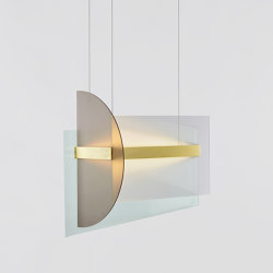 Kazimir Long Pendant (Satin brass) | Lámparas de suspensión | Roll & Hill