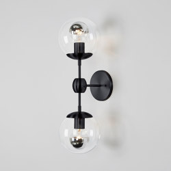 Modo Sconce - 2 Globes (Black/Clear) | Appliques murales | Roll & Hill