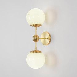 Modo Sconce - 2 Globes (Brass/Cream) | Appliques murales | Roll & Hill