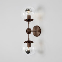Modo Sconce - 2 Globes (Bronze/Clear) | Wall lights | Roll & Hill